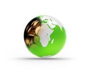 Money globe Stock Photo