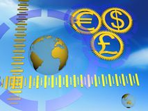 Money an globe Royalty Free Stock Image