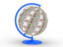Money globe royalty free stock photography