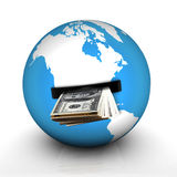 Money globe Stock Images