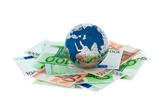 Money and Globe Royalty Free Stock Images