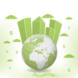 Money Globe Illustration Stock Photo