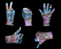 Money gloves Stock Photos