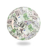 Money Goes Around The Globe Royalty Free Stock Image