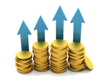 Money going up Stock Image