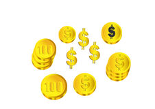 Money ,Gold coin  money object vector illustration Royalty Free Stock Photo