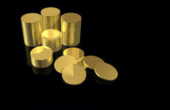 Money - Gold Coins Royalty Free Stock Photography