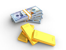 Money and Gold Stock Photography