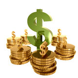 Money and gold wealth Stock Photos