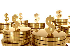 Money and gold wealth Stock Images