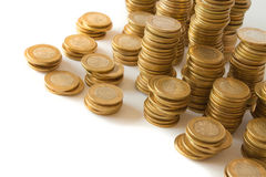 Money golden coins Stock Photography