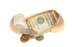 Money in a golden egg Royalty Free Stock Image