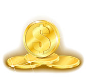 Money golden pyramid Stock Photography