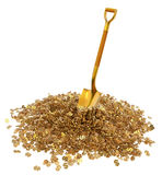Money with a golden shovel Royalty Free Stock Images