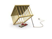 Money golden trap Stock Images
