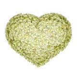 Money is good. Heart-shaped pile of money. Isolated on white Stock Photos