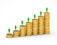 Money Graph Royalty Free Stock Photography