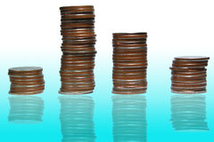Money graph ,. At chase the level goes up by have back white ground Royalty Free Stock Photo