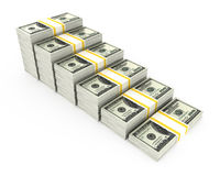 Money graph. On white background Stock Photo