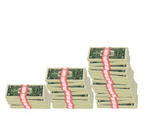 Money Graph. Bundled money depicts a financial graph Royalty Free Stock Photos