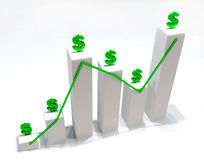 Money Graphic 3D Stock Photo