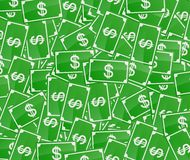 Money. Green money bills background Stock Photography