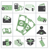 Money. Green set Stock Photography