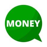 Money, Green Speech Bubble Stock Photo