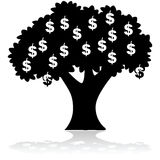 Money growing on tree Royalty Free Stock Photos