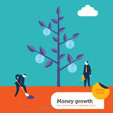 Money growing on a tree Stock Image