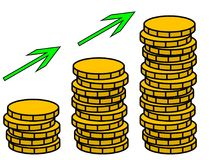 Money grows illustration royalty free stock photography