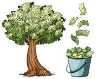 Money grows on tree. Illustration Royalty Free Stock Images