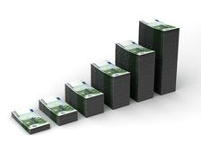 Money Growth. (computer generated image Royalty Free Illustration
