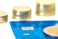 Money growth. Bank credit card Royalty Free Stock Image