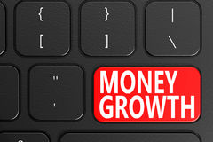 Money Growth on black keyboard Stock Images