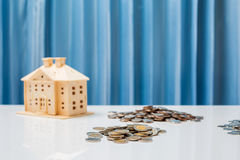 Money growth concept saving to buy house for your family. Royalty Free Stock Photography