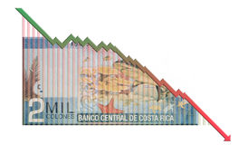 Money Growth Graph Royalty Free Stock Photos