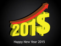 Money growth of 2015. Happy new year 2015 Royalty Free Stock Photography