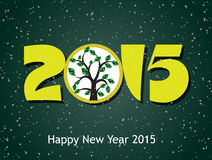 Money growth of 2015. Happy new year 2015 Royalty Free Stock Images