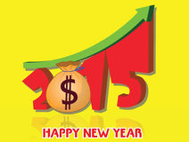 Money growth of 2015. Happy new year 2015 Stock Photos