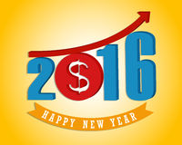 Money growth of 2016. Happy new year Royalty Free Stock Photo