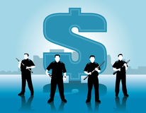 Money guards Royalty Free Stock Images