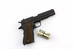 Money with Gun . Stock Images
