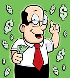 Money Guy. A man giving financial advice Royalty Free Stock Images