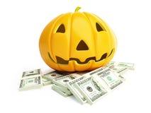 Money Halloween. Money spent on the celebration of Halloween Stock Photography