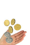 Money and hand Stock Images