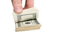 Money in the hand Stock Photo