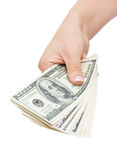 Money in hand Royalty Free Stock Photo