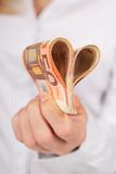 Money in hand. Royalty Free Stock Photos