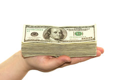 Money on hand Royalty Free Stock Images